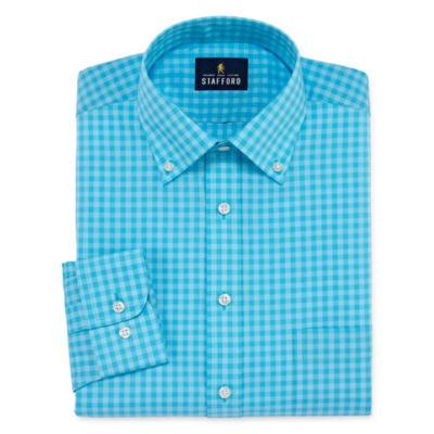 Stafford Travel Easy-Care Broadcloth Long-Sleeve Dress Shirt