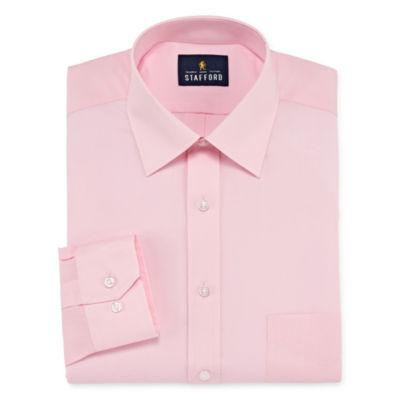 Stafford Travel Easy-Care Big And Tall Long Sleeve Broadcloth Dress Shirt