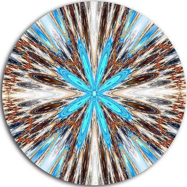 Design Art Flowers with Radiating Rays Disc Abstract Circle Metal Wall Art