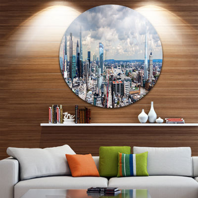 Design Art City of London Cityscape Disc Photography Circle Metal Wall Art