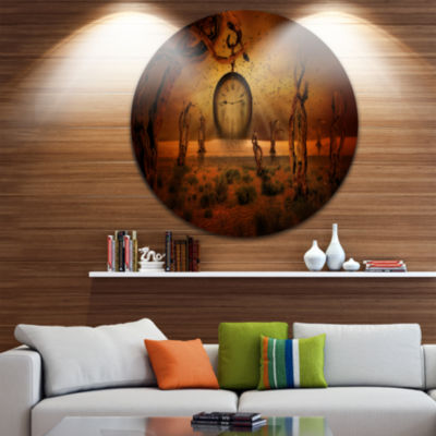 Design Art End of Time Abstract Circle Metal WallArt