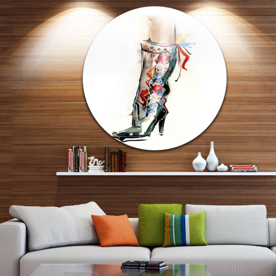 Design Art Decorative Shoe Disc Abstract Circle Metal Wall Art