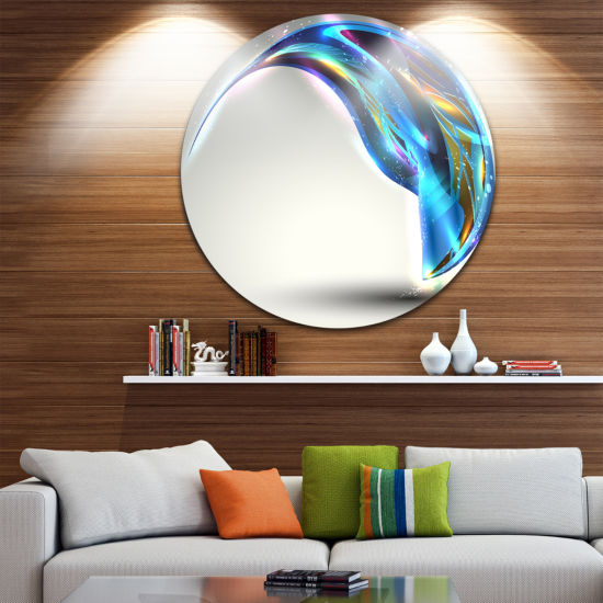 Design Art Fantastic Abstract Illustration Disc Contemporary Circle Metal Wall Art