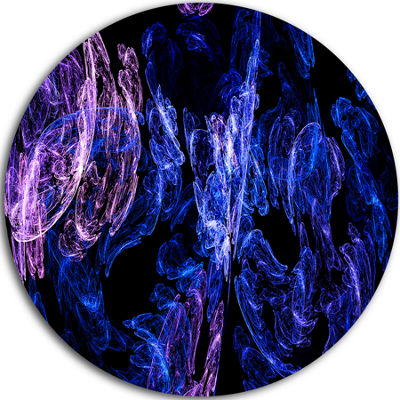 Design Art Dark Blue Fractal Desktop Large Abstract Circle Metal Wall Art
