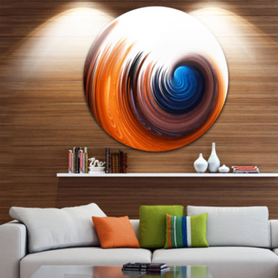 Design Art Elegant Spiral Design Disc Abstract Circle Metal Wall Art