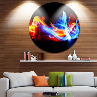 Design Art Fire and Ice Disc Abstract Circle MetalWall Art