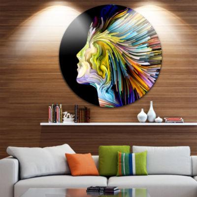 Design Art Endless Imagination Abstract Metal Circle Wall Art