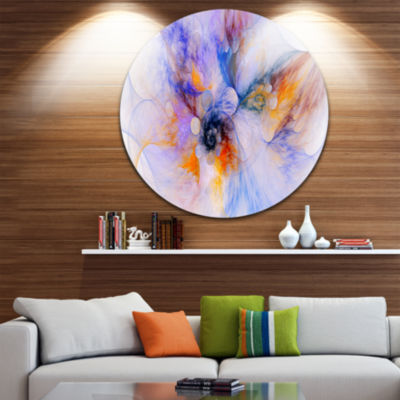 Design Art Fractal Floral Art Floral Circle MetalWall Art