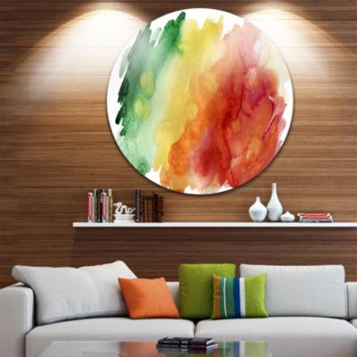 Design Art Color Explosion Abstract Circle Metal Wall Art