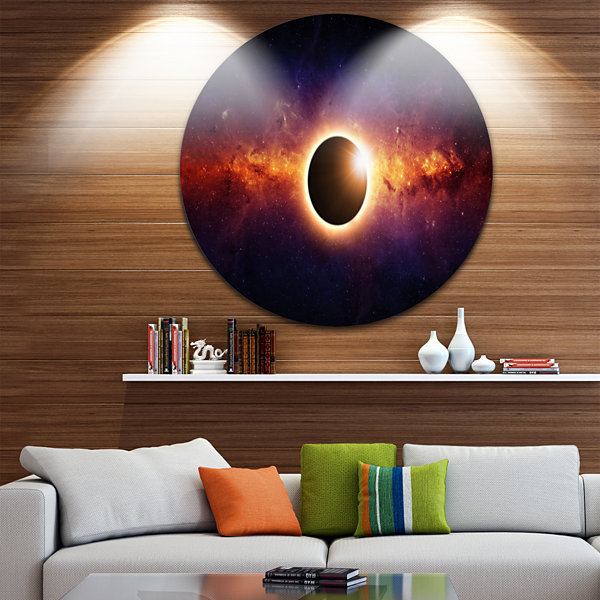 Design Art Full Eclipse View Spacescape Circle Metal Wall Art