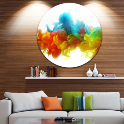 Design Art Colorful Ink in Water Abstract Metal Artwork