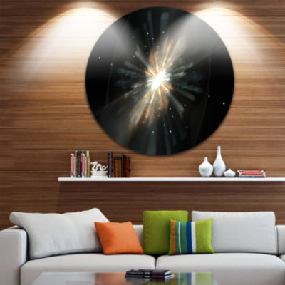 Design Art Fractal Star Galaxy Abstract Circle Metal Wall Art