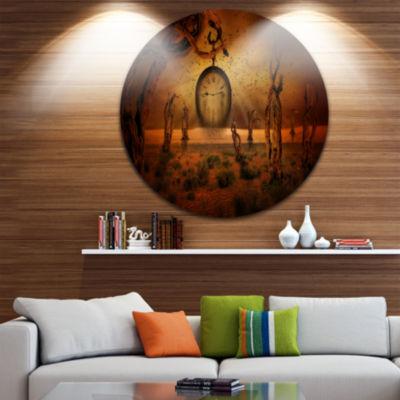 Design Art End of Time Abstract Circle Metal WallArt
