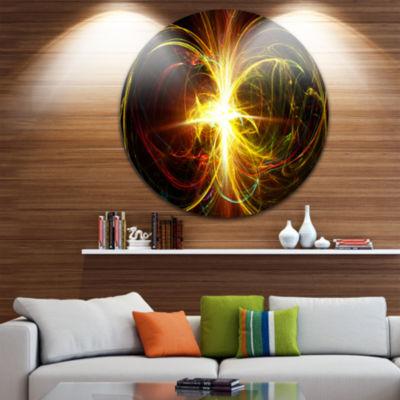 Design Art Fractal Hoops Abstract Circle Metal Wall Art