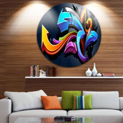 Design Art Direction Street Art Disc Graffiti Circle Metal Wall Art