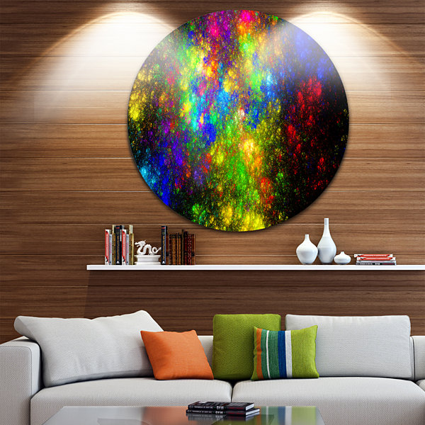 Design Art Distant Galaxies Abstract Circle MetalWall Art