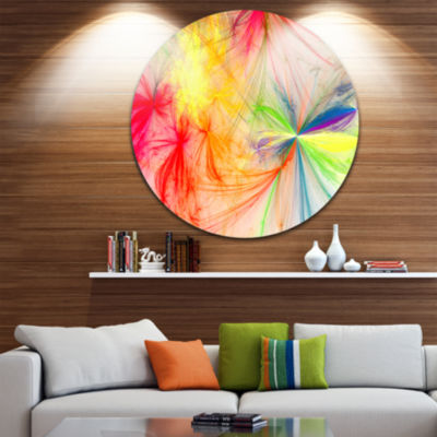 Design Art Christmas Fireworks Colorful Large Contemporary Circle Metal Wall Arts