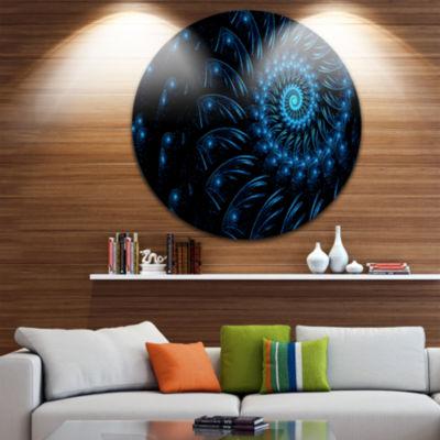 Design Art Endless Spiral Snail Blue Abstract Circle Metal Wall Art