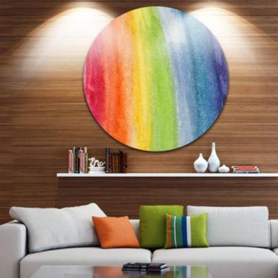 Design Art Flowing Rainbow Colors Abstract Metal Artwork