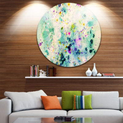 Design Art Color Splatter Abstract Circle Metal Wall Art