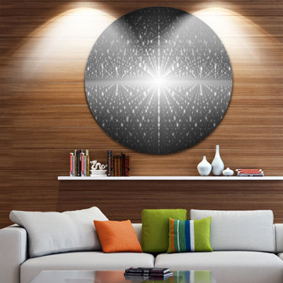 Design Art Cosmic Galaxy with Shining Stars Abstract Round Circle Metal Wall Decor Panel