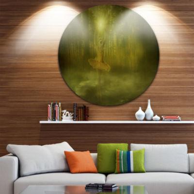 Design Art Dance of the Sun Landscape Disc Photography Circle Metal Wall Art