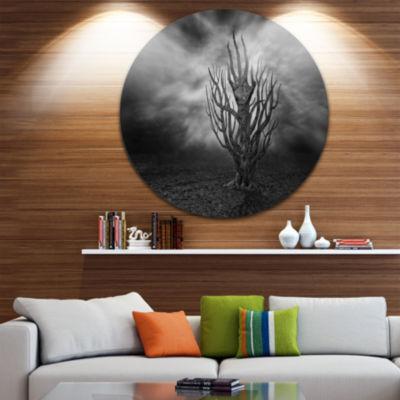 Design Art Cry of Hand Abstract Circle Metal WallArt