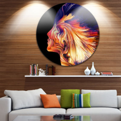 Design Art Explosion of Thought Abstract Circle Metal Wall Art