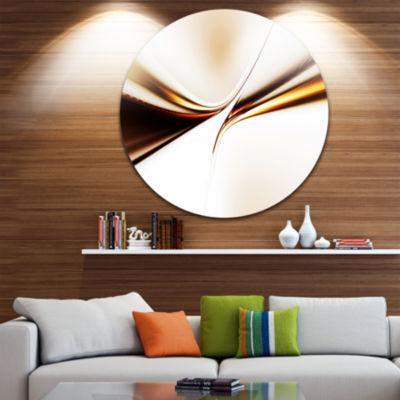 Design Art Dynamic Golden Waves Abstract Circle Metal Wall Art