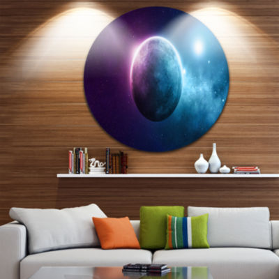 Design Art Deep Space Planet Space Circle Metal Wall Art