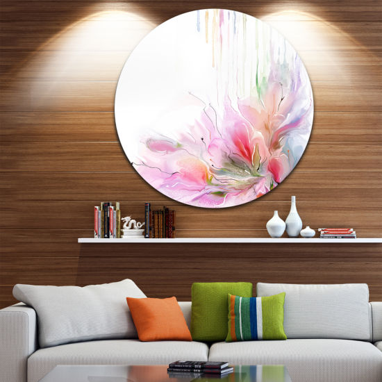 Design Art Floral Composition Disc Floral Circle Metal Wall Art