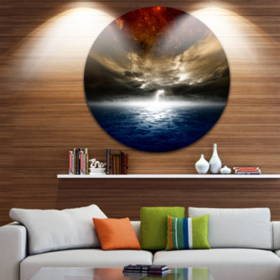 Design Art Dramatic Nature Spacescape Circle MetalWall Art