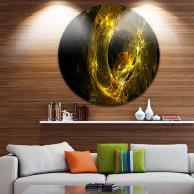 Design Art Far Spherical Galaxy Golden Disc Abstract Circle Metal Wall Art