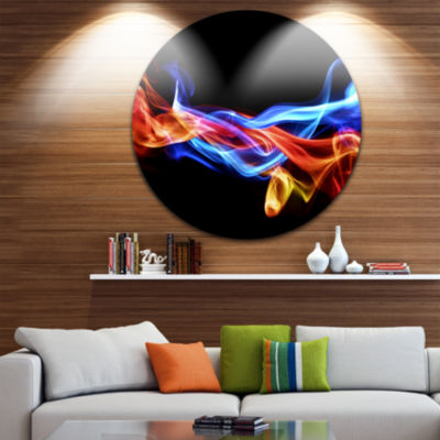Design Art Fire and Ice Design Abstract Disc LargeContemporary Circle Metal Wall Arts