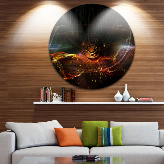 Design Art Composition of Elements Disc Contemporary Circle Metal Wall Art
