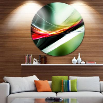 Design Art Elegant Color Pattern Disc Abstract Circle Metal Wall Art