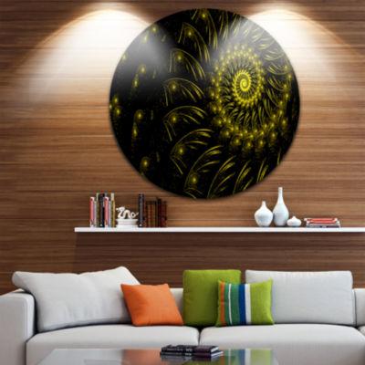 Design Art Endless Spiral Snail Yellow Abstract Circle Metal Wall Art