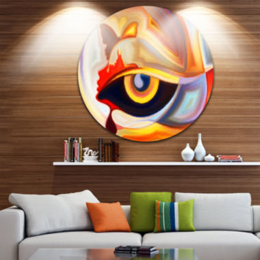 Design Art Eye's Intuition Abstract Metal Circle Wall Art
