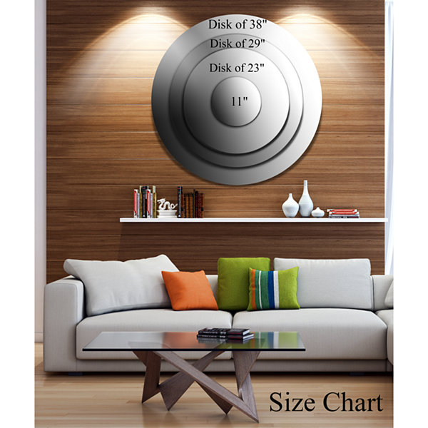 Design Art Disaster of War and Gas Disc Abstract Circle Metal Wall Art