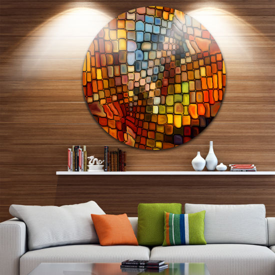 Design Art Dreaming of Stained Glass Abstract Metal Artwork