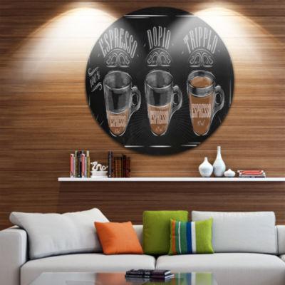 Design Art Espresso Kraf Black Disc Circle Metal Wall Art