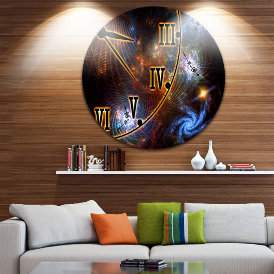 Design Art Fabric of Space and Time Disc AbstractCircle Metal Wall Art