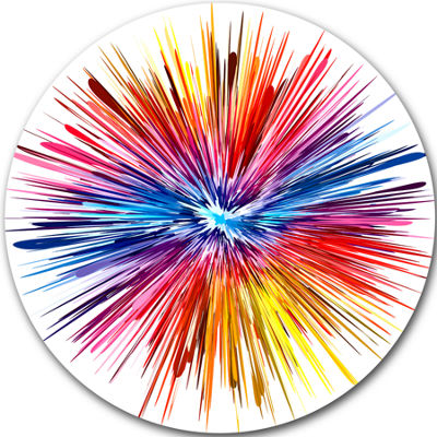 Design Art Color Explosion Abstract Metal Artwork