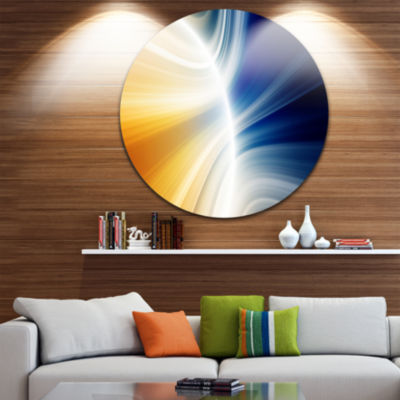Design Art Glowing Abstract Lines Abstract CircleMetal Wall Art