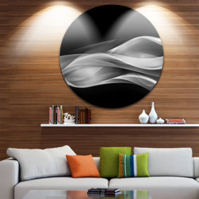 Design Art Glittering Silver Pattern Disc AbstractCircle Metal Wall Art
