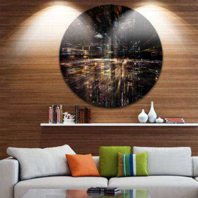 Design Art Glow of Technology Disc Contemporary Circle Metal Wall Art