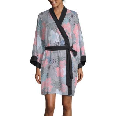 Ambrielle Womens 3/4 Sleeve Mid Length Kimono Robes