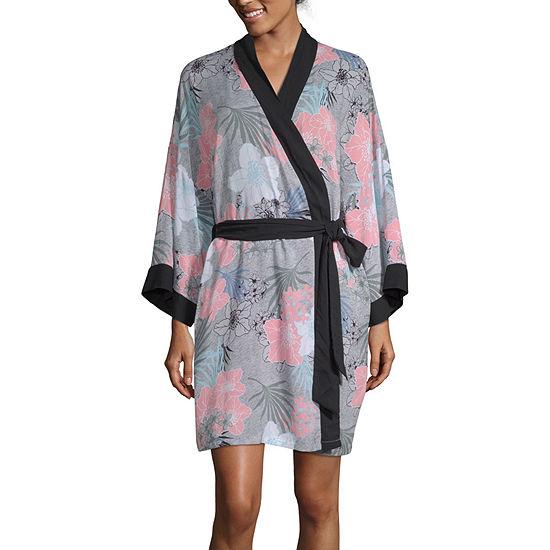Ambrielle Womens 3 4 Sleeve Mid Length Kimono Robes