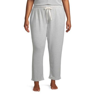 Ambrielle Womens-Plus Knit Pajama Pants