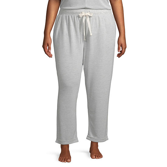 Ambrielle Womens-Plus Knit Pajama Pants